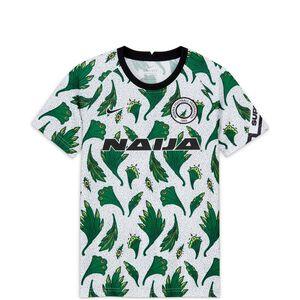 Nigeria Dry Trainingsshirt Kinder, weiß / grün, zoom bei OUTFITTER Online