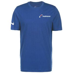 Mainova Team Club 20 Tee Herren, blau / weiß, zoom bei OUTFITTER Online