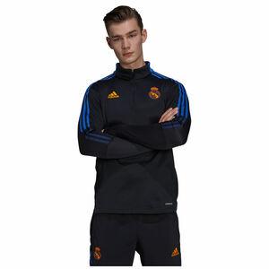 Real Madrid Warm Trainingssweat Herren, schwarz / blau, zoom bei OUTFITTER Online