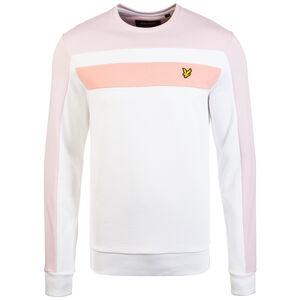 Colour Block Sweatshirt Herren, weiß / rosa, zoom bei OUTFITTER Online
