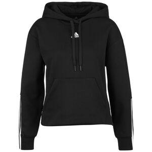Essentials 3-Streifen Kapuzenpullover Damen, schwarz / weiß, zoom bei OUTFITTER Online