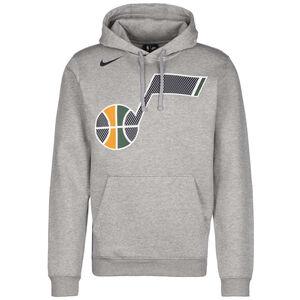 NBA Utah Jazz Logo Fleece Kapuzenpullover Herren, grau / gelb, zoom bei OUTFITTER Online