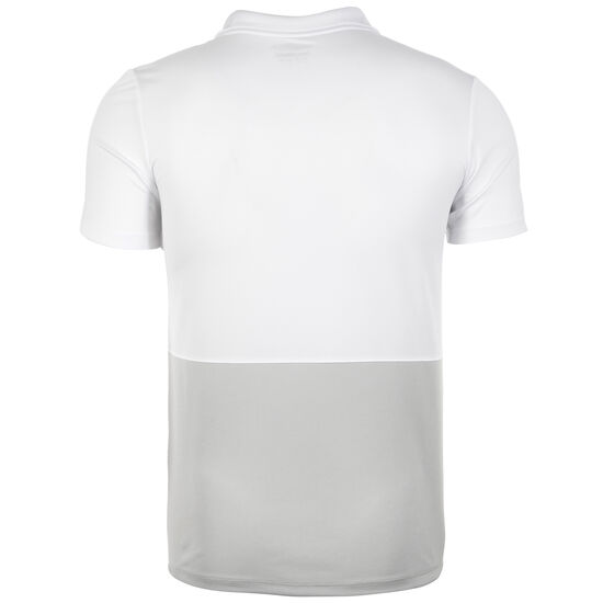 Poly Poloshirt Herren, weiß / grau, zoom bei OUTFITTER Online