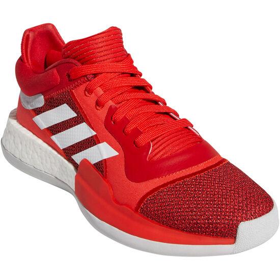 Marquee Boost Low Basketballschuhe Herren, rot / weiß, zoom bei OUTFITTER Online