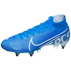 Mercurial Superfly VII Elite DF AC SG-Pro Fußballschuh Herren, blau / weiß, zoom bei OUTFITTER Online
