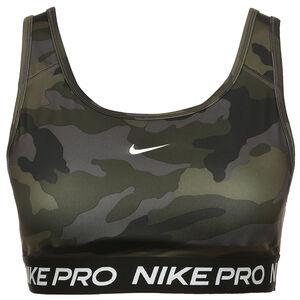 Pro Swoosh Camo Sport-BH Damen, oliv / grau, zoom bei OUTFITTER Online