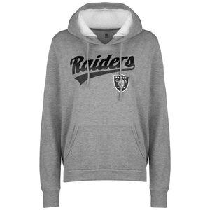 NFL Oakland Raiders Logo Kapuzenpullover Damen, grau / schwarz, zoom bei OUTFITTER Online