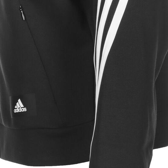 Wrapped 3-Streifen Kapuzensweatjacke Damen, schwarz / weiß, zoom bei OUTFITTER Online