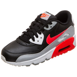 Air Max 90 Leather Sneaker Kinder, grau / rot, zoom bei OUTFITTER Online