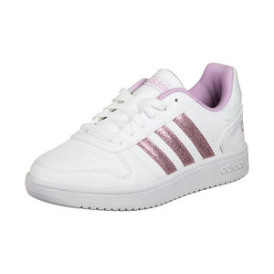 Hoops 2.0 Sneaker Kinder, weiß / rosa, zoom bei OUTFITTER Online