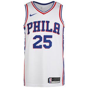 NBA Philadelphia 76ers Ben Simmons Association Edition Swingman Basketballtrikot Herren, weiß / blau, zoom bei OUTFITTER Online