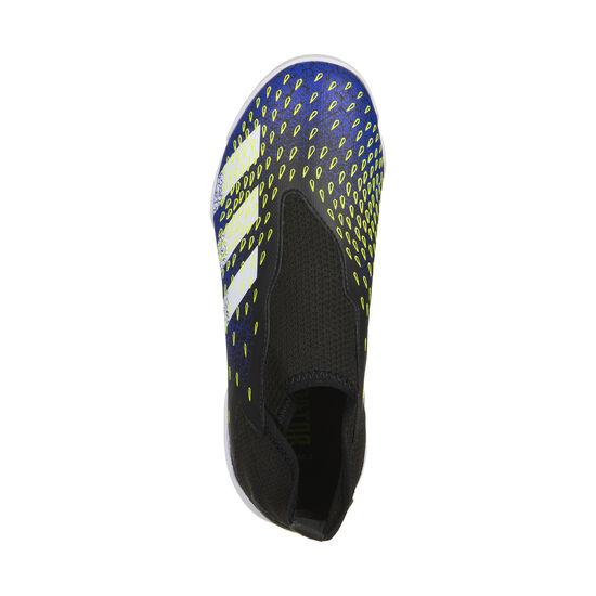 Predator Freak .3 Laceless Indoor Fußballschuh Kinder, schwarz / blau, zoom bei OUTFITTER Online