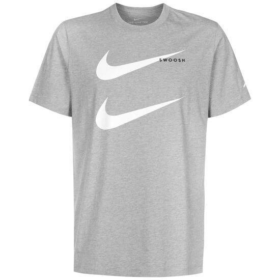 Swoosh T-Shirt Herren, dunkelgrau / weiß, zoom bei OUTFITTER Online