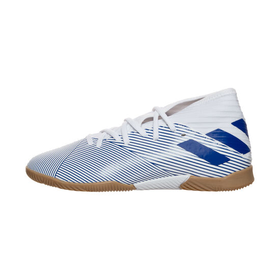 Nemeziz 19.3 Indoor Fußballschuh Kinder, weiß / blau, zoom bei OUTFITTER Online
