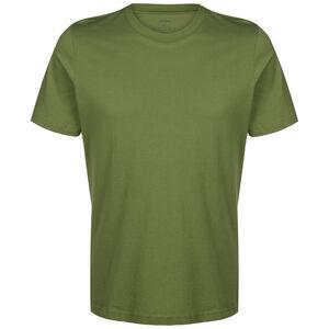 Essentials Plain T-Shirt Herren, oliv / weiß, zoom bei OUTFITTER Online