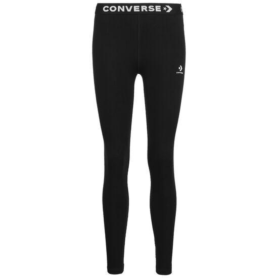 Wordmark Leggings Damen, schwarz / weiß, zoom bei OUTFITTER Online