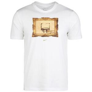 Dry Core Basketball T-Shirt Herren, weiß / dunkelgelb, zoom bei OUTFITTER Online