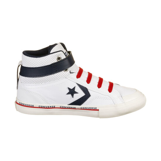 Pro Blaze Strap High Sneaker Kinder, weiß / dunkelblau, zoom bei OUTFITTER Online