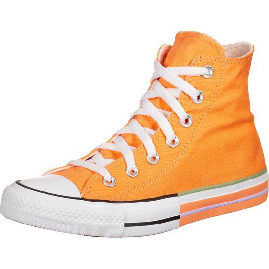 Chuck Taylor All Star High Sneaker, orange / flieder, zoom bei OUTFITTER Online