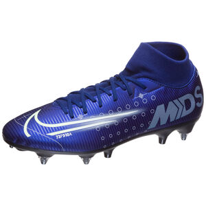 Mercurial Superfly 7 Academy MDS SG-Pro Fußballschuh Herren, blau / gelb, zoom bei OUTFITTER Online