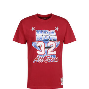 NBA All Star West 1991 #2 Magic Johnson T-Shirt Herren, rot / blau, zoom bei OUTFITTER Online