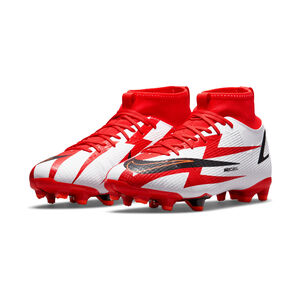 Mercurial Superfly 8 Academy CR7 DF MG Fußballschuh Kinder, rot / weiß, zoom bei OUTFITTER Online