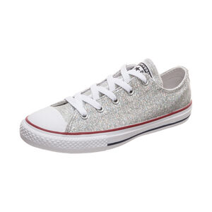 Chuck Taylor All Star Sparkle OX Sneaker Kinder, silber, zoom bei OUTFITTER Online