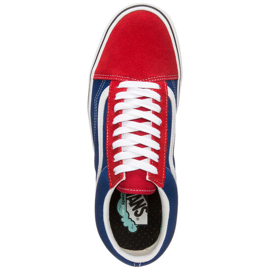 Old Skool ComfyCush Sneaker Herren, rot / blau, zoom bei OUTFITTER Online