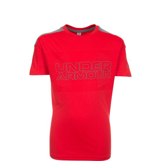 HeatGear Activate Trainingsshirt Kinder, rot / grau, zoom bei OUTFITTER Online
