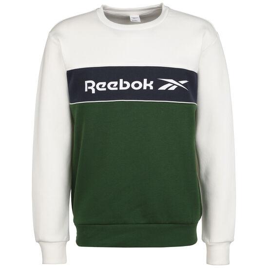 Classics Linear Crew Sweatshirt Herren, weiß / dunkelgrün, zoom bei OUTFITTER Online