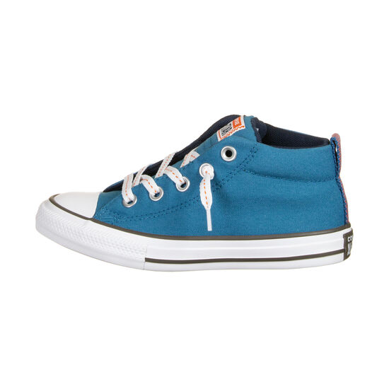 Chuck Taylor All Star Street Mid Sneaker Kinder, petrol / orange, zoom bei OUTFITTER Online
