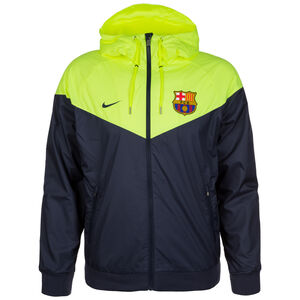 FC Barcelona Windrunner Kapuzenjacke Herren, blau / neongelb, zoom bei OUTFITTER Online