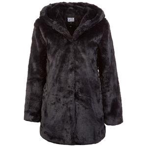 Hooded Teddy Wintermantel Damen, schwarz, zoom bei OUTFITTER Online