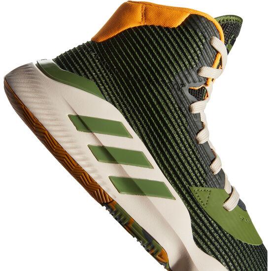 Pro Bounce 2019 Basketballschuh Herren, grün / gelb, zoom bei OUTFITTER Online