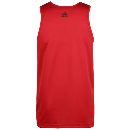 Sport 3-Stripes Basketballtank Herren, rot / schwarz, zoom bei OUTFITTER Online