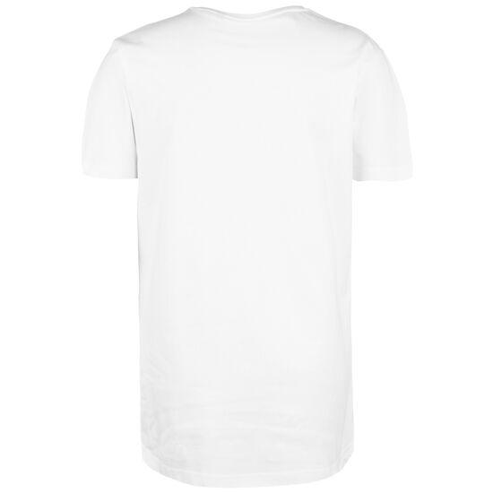 Long T-Shirt Herren, weiß / schwarz, zoom bei OUTFITTER Online