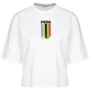 TFS Graphic Regular T-Shirt Damen, weiß / gold, zoom bei OUTFITTER Online