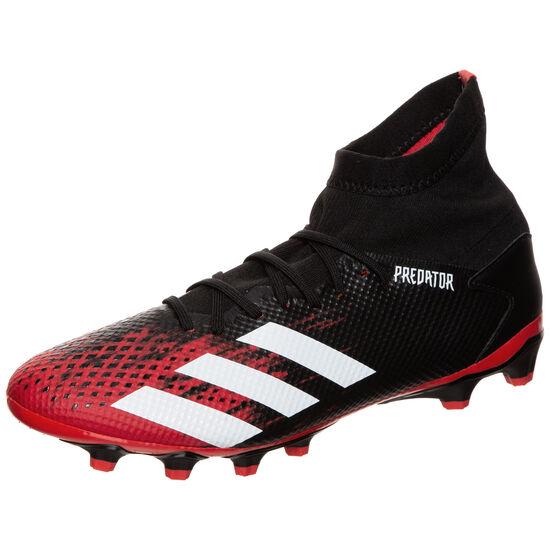 Predator 20.3 MG Fußballschuh Herren, schwarz / rot, zoom bei OUTFITTER Online