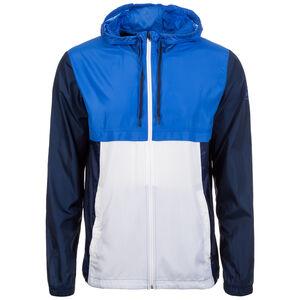HeatGear Sportstyle Trainingskapuzenjacke Herren, blau / weiß, zoom bei OUTFITTER Online