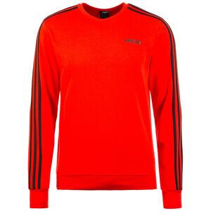 Essentials 3 Stripes Trainingssweat Herren, rot / schwarz, zoom bei OUTFITTER Online