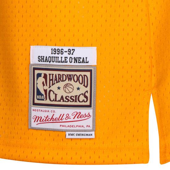 NBA LA Lakers 2.0 Shaquille O'Neal Basketballtrikot Herren, gelb / lila, zoom bei OUTFITTER Online