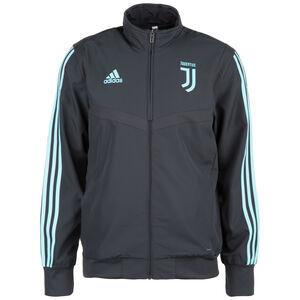Juventus Turin Präsentationsjacke International Herren, dunkelgrau / türkis, zoom bei OUTFITTER Online