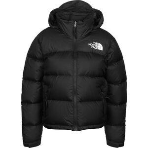 1996 Retro Nuptse Winterjacke Damen, schwarz / weiß, zoom bei OUTFITTER Online