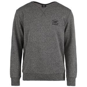 Terry Outline Sweatshirt Herren, dunkelgrau / schwarz, zoom bei OUTFITTER Online