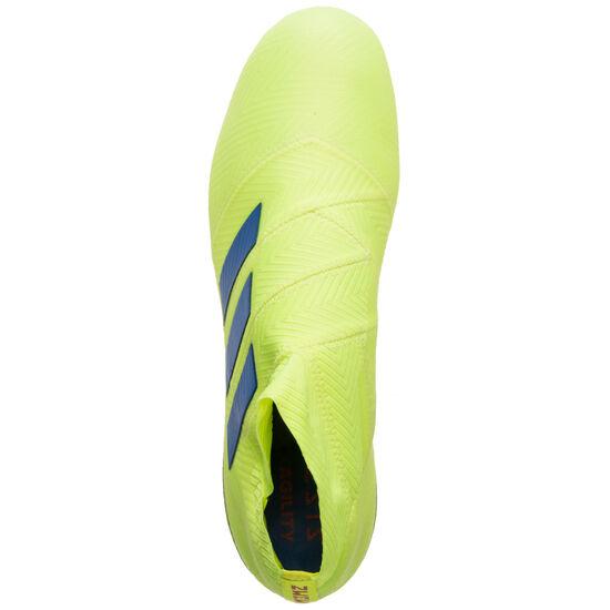 Nemeziz 18+ FG Fußballschuh Herren, neongelb / blau, zoom bei OUTFITTER Online
