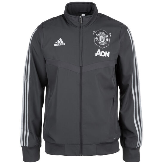 Manchester United Präsentationsjacke International Herren, dunkelgrau / silber, zoom bei OUTFITTER Online