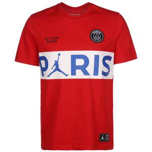 Paris St.-Germain Jordan Wordmark T-Shirt Herren, rot / weiß, zoom bei OUTFITTER Online