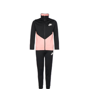 Core Track Suit Trainingsanzug Kinder, schwarz / korall, zoom bei OUTFITTER Online