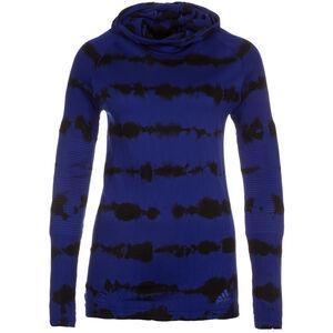 Primeknit Effect Laufkapuzenshirt Damen, Blau, zoom bei OUTFITTER Online
