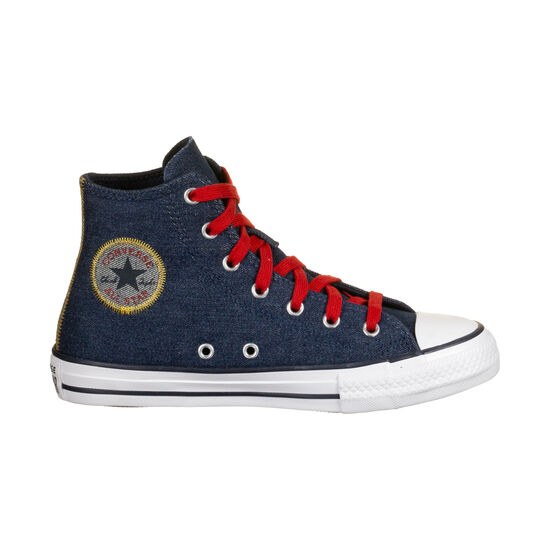 Chuck Taylor All Star Hi Sneaker Kinder, dunkelblau / rot, zoom bei OUTFITTER Online